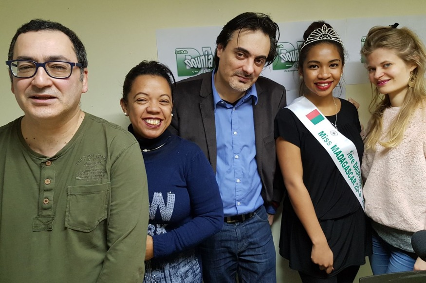 Julien Richard-Thomson et Karene Rasamoel, la 1er dauphine Miss Madagascar France